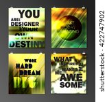 quote poster. typographical... | Shutterstock .eps vector #422747902