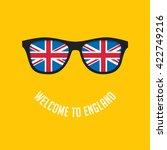 stock vector british flag in... | Shutterstock .eps vector #422749216