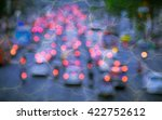 blur from the lights of cars on ... | Shutterstock . vector #422752612