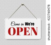 open sign with transparent... | Shutterstock .eps vector #422760478