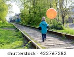 kid  boy  child  holding yellow ... | Shutterstock . vector #422767282