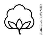 cotton boll   flower line art... | Shutterstock .eps vector #422779042