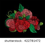 beautiful colorful flower art.... | Shutterstock .eps vector #422781472