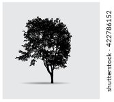 vector tree silhouettes | Shutterstock .eps vector #422786152