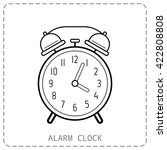 alarm clock  flat linear icon.... | Shutterstock .eps vector #422808808