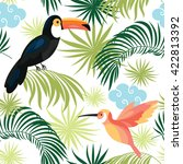 seamless pattern with tropical... | Shutterstock .eps vector #422813392