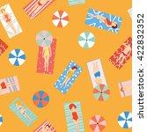 beach holiday seamless pattern...   Shutterstock .eps vector #422832352