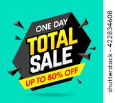one day total sale banner ... | Shutterstock .eps vector #422834608