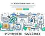 illustration of vector modern... | Shutterstock .eps vector #422835565