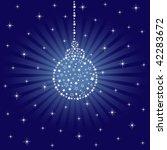 sparkling christmas bauble | Shutterstock .eps vector #42283672