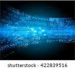 blue arrow abstract light hi... | Shutterstock .eps vector #422839516
