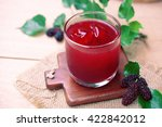 red mulberry juice on the table