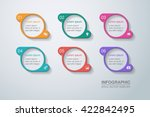 vector infographic template | Shutterstock .eps vector #422842495