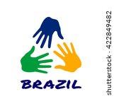 Colorful Three Hand Print Logo...
