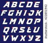 sport alphabet logos design... | Shutterstock .eps vector #422851942
