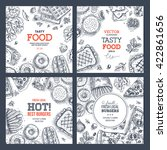 fast food banner collection.... | Shutterstock .eps vector #422861656