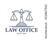 law and attorney logo template  | Shutterstock .eps vector #422867542
