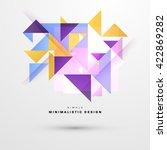 geometric vector background.... | Shutterstock .eps vector #422869282