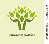 logo alternative medicine.... | Shutterstock .eps vector #422870575