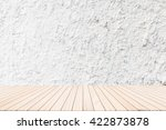 wood terrace with a background... | Shutterstock . vector #422873878