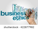 business ethics concept word... | Shutterstock . vector #422877982