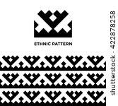 ethnic geometric seamless... | Shutterstock .eps vector #422878258