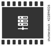 computer server icon  vector... | Shutterstock .eps vector #422894026