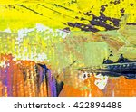 colorful oil painting brush... | Shutterstock . vector #422894488