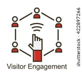 visitor engagement icon | Shutterstock .eps vector #422897266