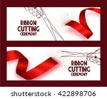 ribbon cuting ceremony banners... | Shutterstock .eps vector #422898706