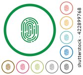 set of fingerprint color round...