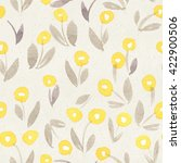 seamless floral pattern on... | Shutterstock . vector #422900506