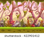Fantasy Cartoon Forest Seamles...