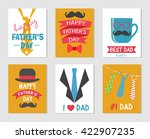 happy fathers day  dad holiday... | Shutterstock .eps vector #422907235