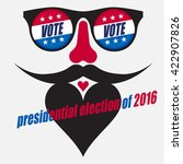unconventional voting design... | Shutterstock .eps vector #422907826
