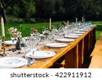 decorated wedding table with... | Shutterstock . vector #422911912