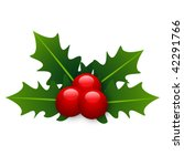 beautiful holly christmas detail | Shutterstock .eps vector #42291766