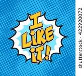i like it comics pop art icon.... | Shutterstock .eps vector #422920072