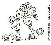 freehand textured cartoon skull ... | Shutterstock .eps vector #422920252