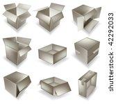 vector cardboard box set | Shutterstock .eps vector #42292033