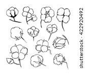 vector set of hand draw ink... | Shutterstock .eps vector #422920492