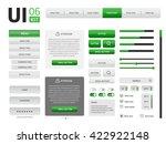 ui kit   Shutterstock . vector #422922148