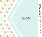 modern chic gold background... | Shutterstock .eps vector #422937442
