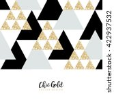 modern chic gold background... | Shutterstock .eps vector #422937532
