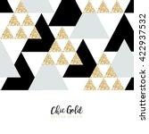 modern chic gold background...   Shutterstock .eps vector #422937532