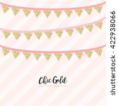 party modern chic gold... | Shutterstock .eps vector #422938066