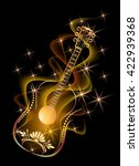 golden decorative guitar in...   Shutterstock .eps vector #422939368