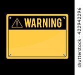warning sign  vector. flat sign ... | Shutterstock .eps vector #422942296