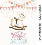 baby shower card   Shutterstock .eps vector #422943586