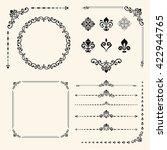 vintage set of elements....   Shutterstock .eps vector #422944765